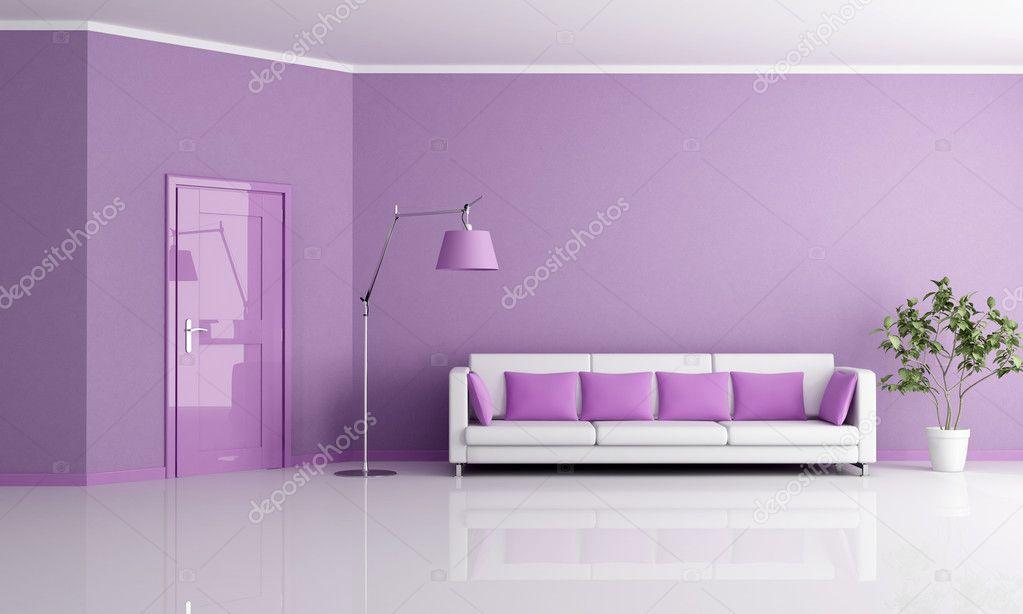 soggiorno lilla ? foto stock © archideaphoto #4946788 - Soggiorno Con Pareti Lilla