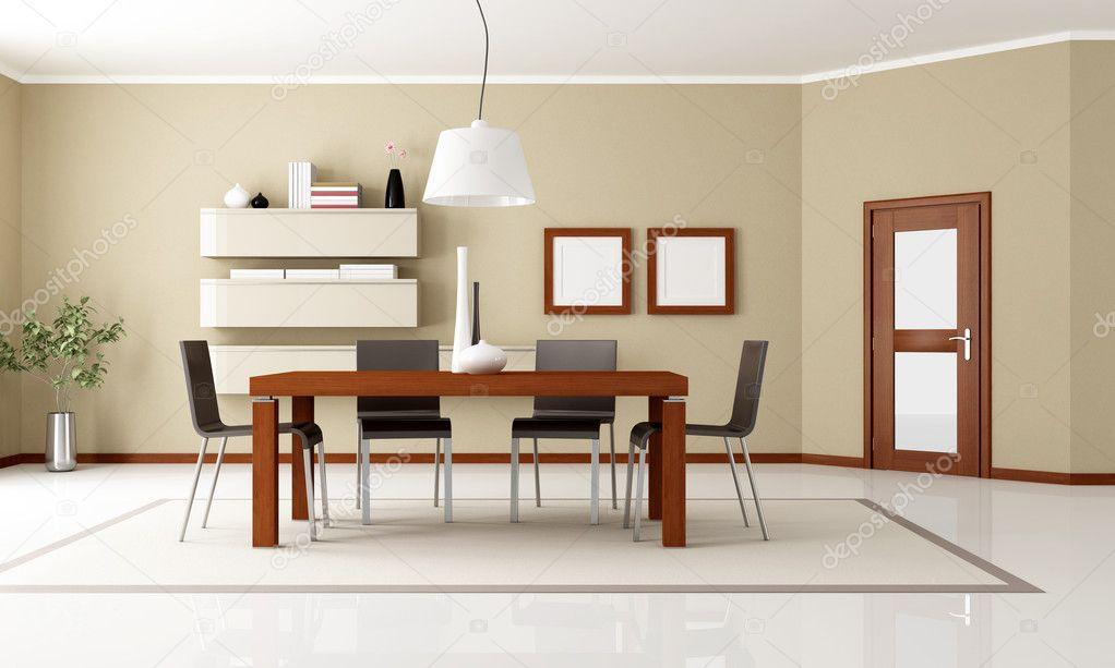 Sala Da Pranzo Moderna Immagini : Elegante e moderna sala da pranzo u foto stock archideaphoto