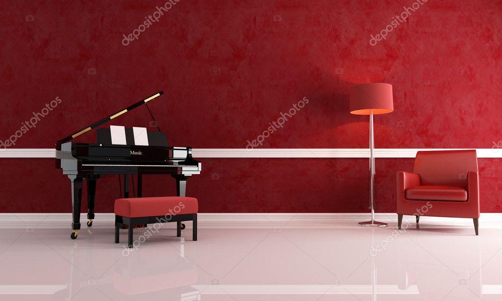 Moderne Muziek Woonkamer : Luxekamer muziek u stockfoto archideaphoto