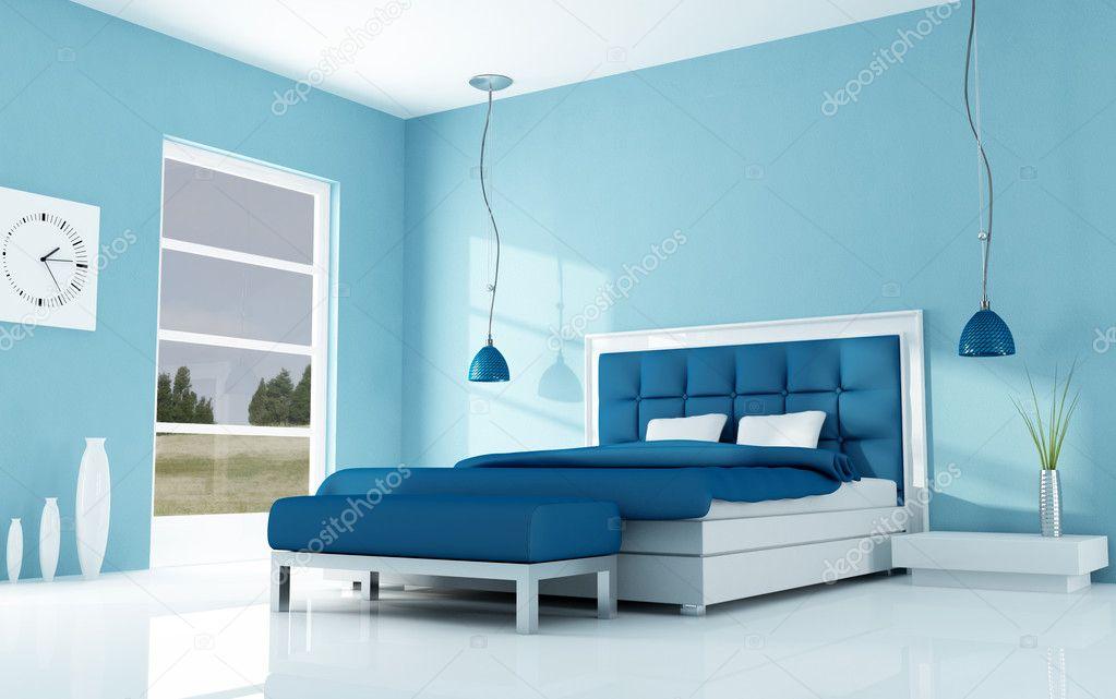 Moderne minimale slaapkamer u stockfoto archideaphoto