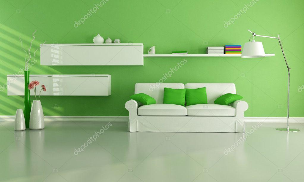 녹색 거실 — 스톡 사진 © archideaphoto #4971124
