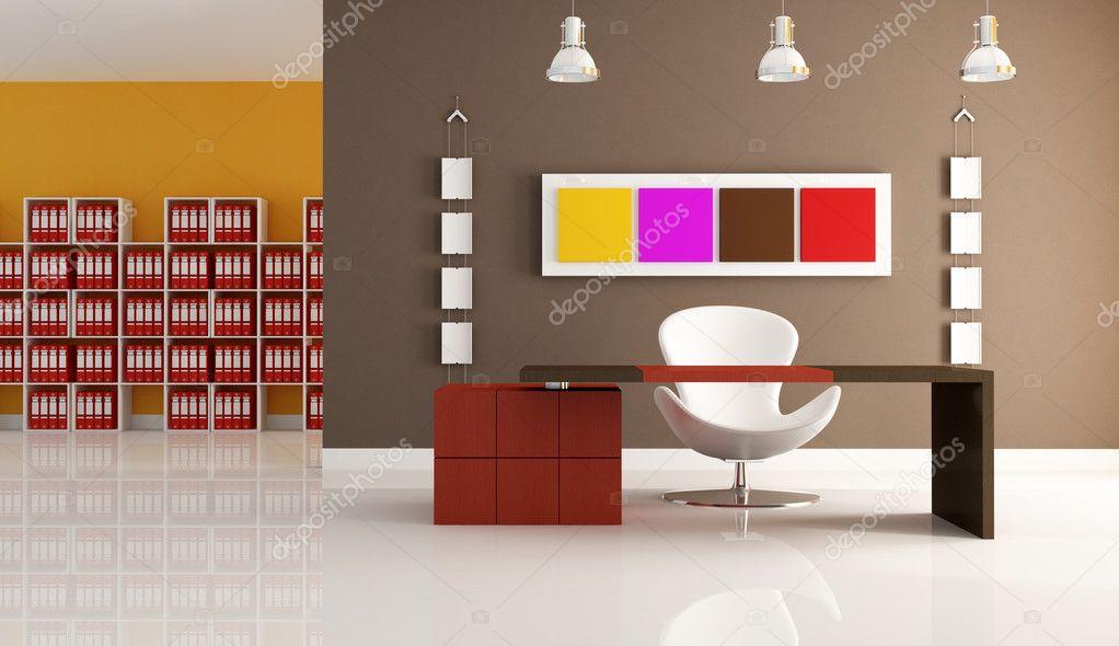 Ufficio moderno colorato foto stock archideaphoto 4987370 for Oficinas enterprise