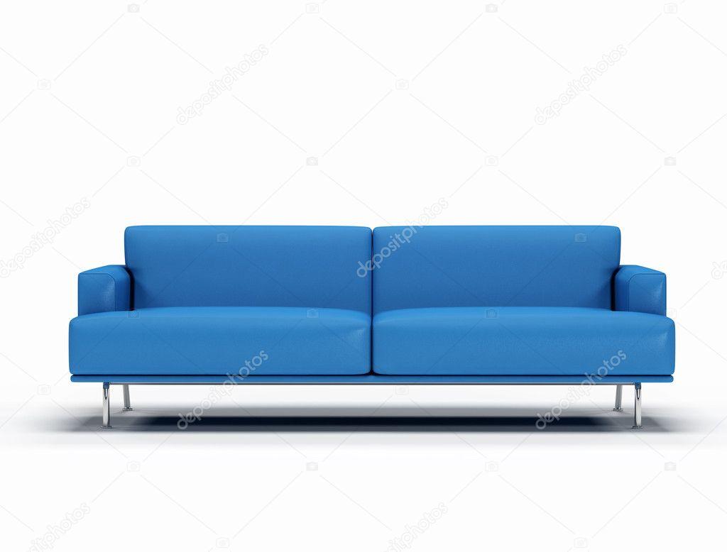 Divano In Pelle Blu.Divano In Pelle Blu Foto Stock C Archideaphoto 4989328