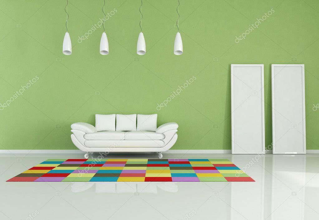 moderne gekleurde woonkamer — Stockfoto © archideaphoto #5010879