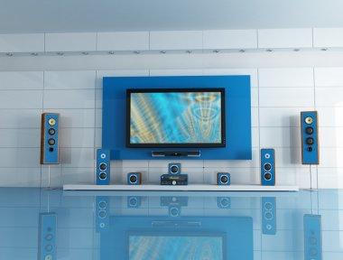 Blue cinema room