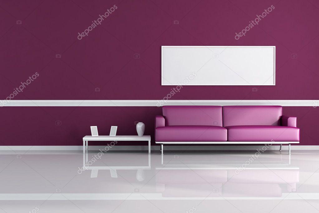 Purple living room