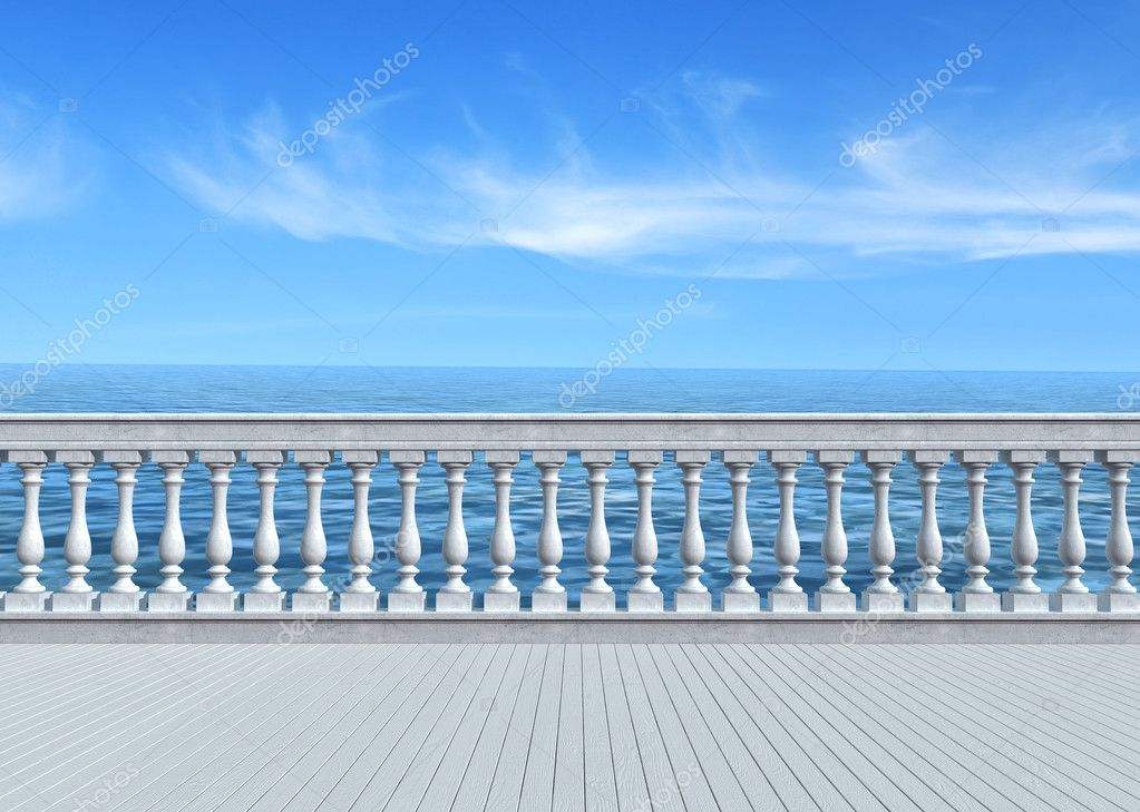 Terrace overlooking the sea