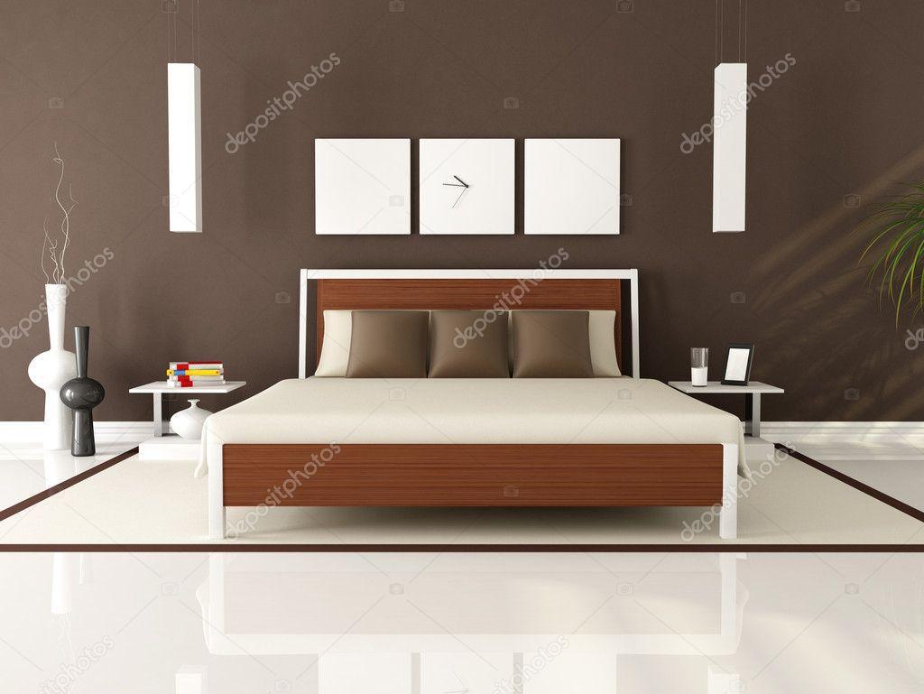 Camera Da Letto Moderna Marrone : Camera da letto moderna marrone u foto stock archideaphoto