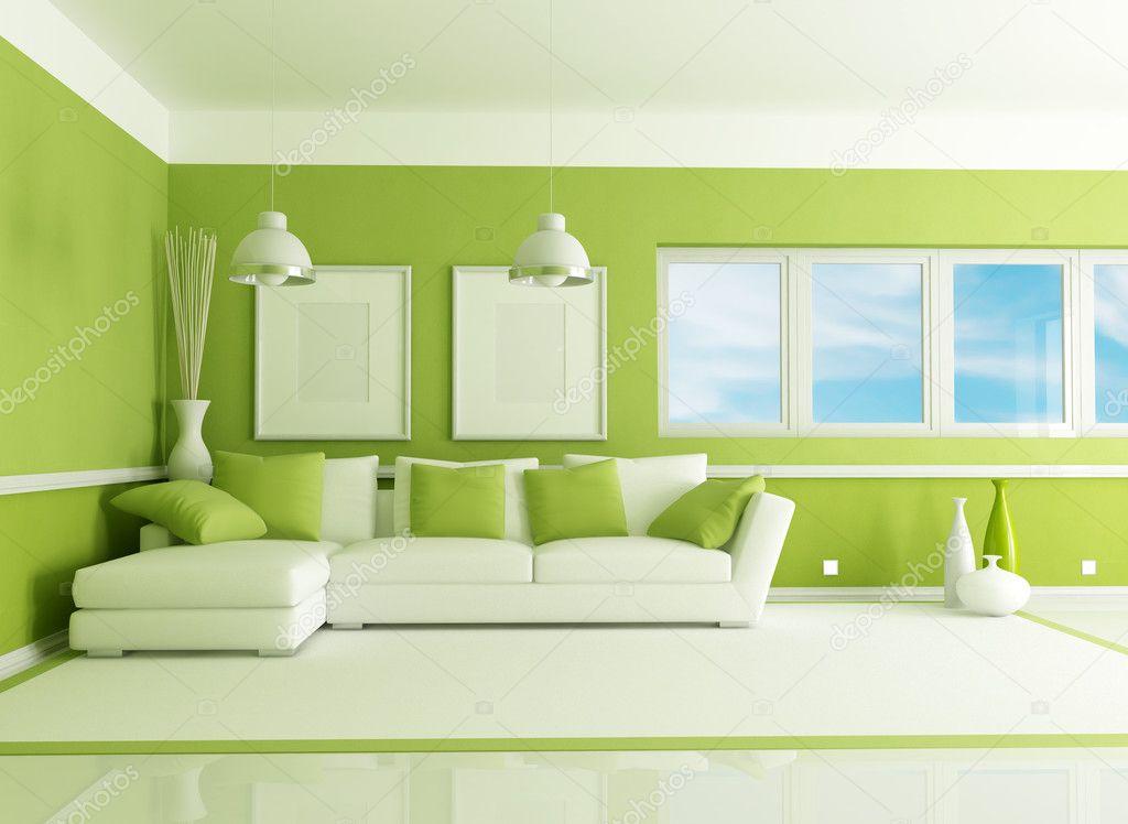 zöld nappali — Stock Fotó © archideaphoto #5359377