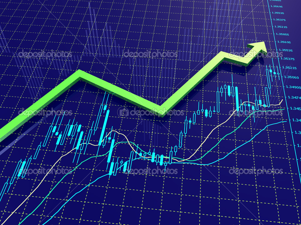 Forex chart with trend arrow — Stock Photo © Volgarud #4952220