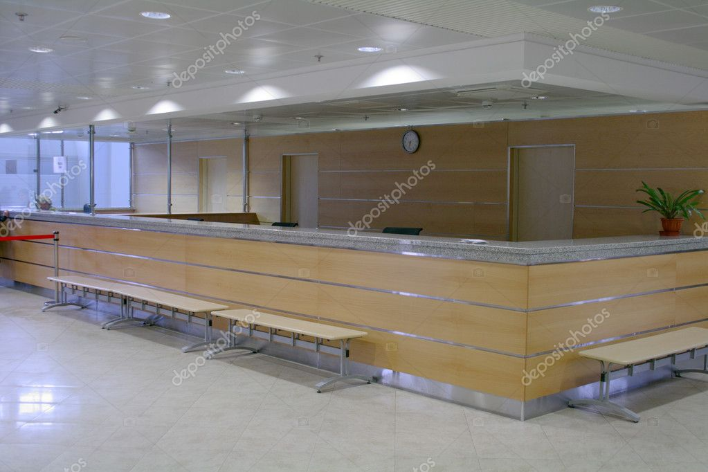 Empty reception deck.