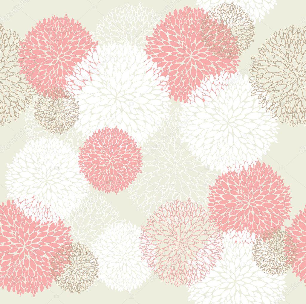 Seamless spring floral pattern