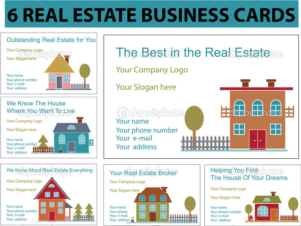 Real estate business cards stock vector gupusk 5016572 real estate business cards vector vector by gupusk reheart Image collections