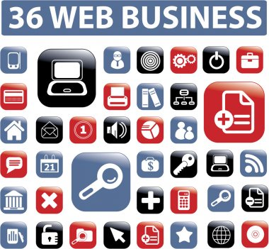 36 web proffesional business buttons