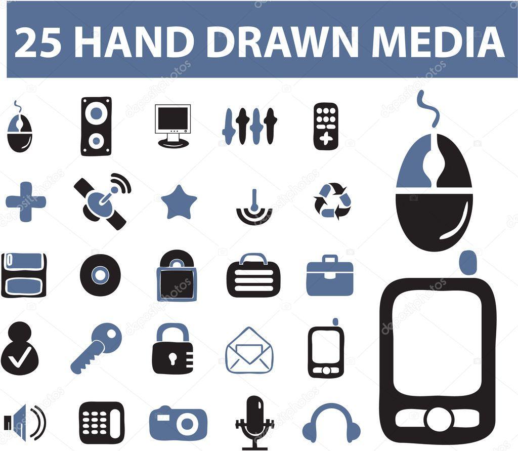 25 hand drawn signs