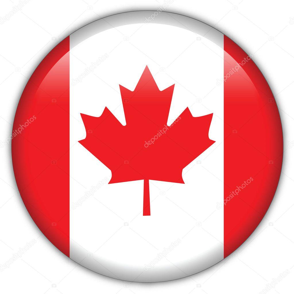 Iconos De Bandera De Canadá Icono De La Bandera De Canadá