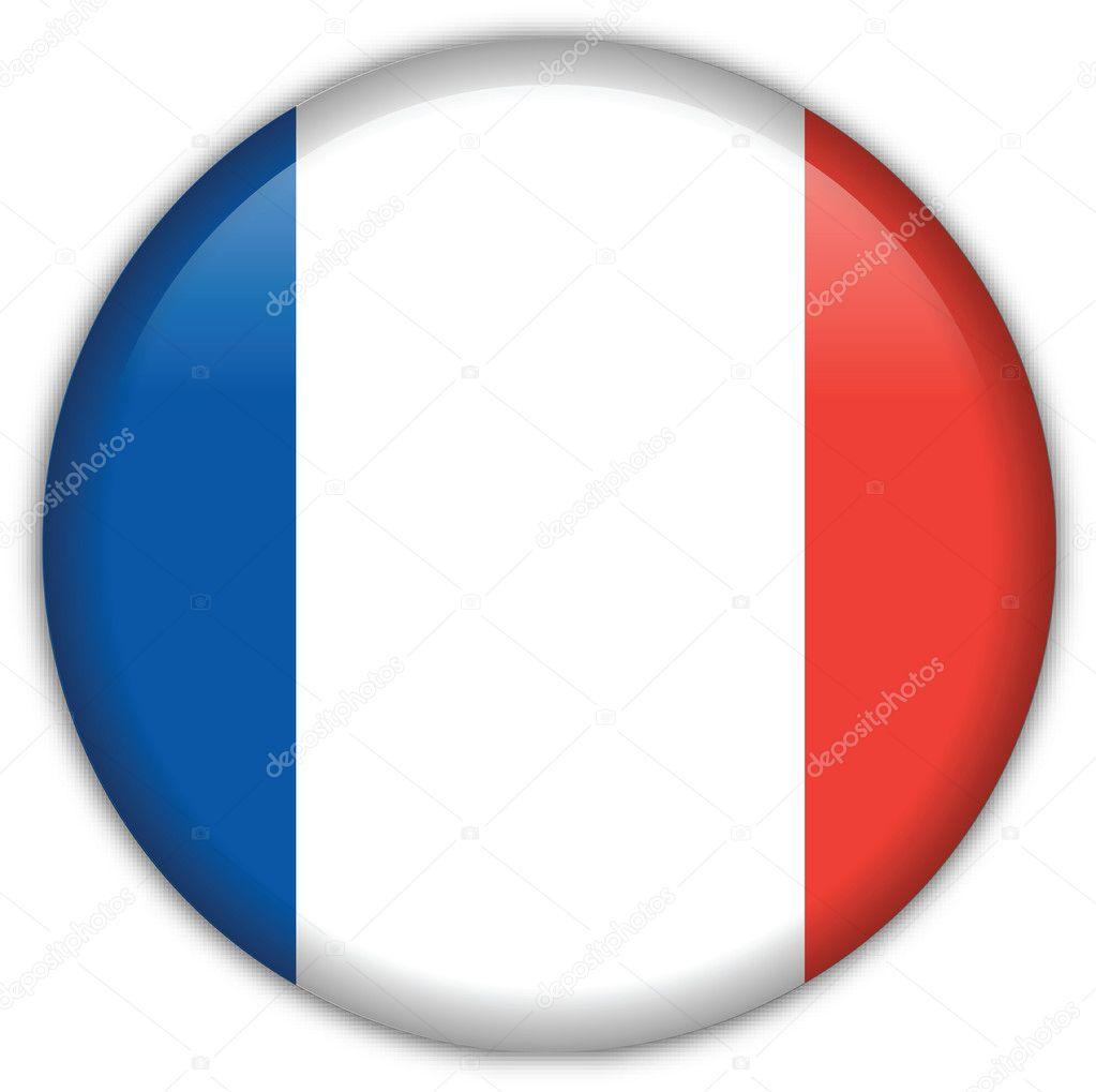 icono de la bandera de Francia — Archivo Imágenes Vectoriales ...