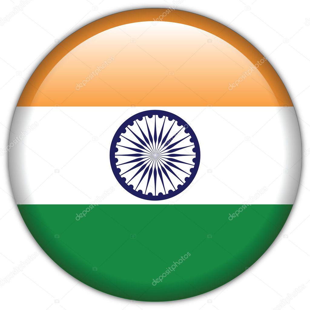 icono de la bandera de la India — Archivo Imágenes Vectoriales ...