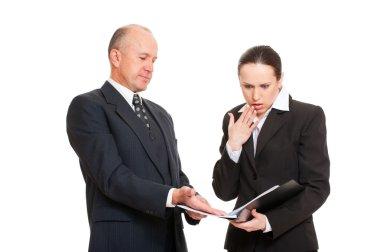 Businesswoman taken mistake in report