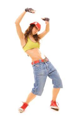 Rowdy girl in dance