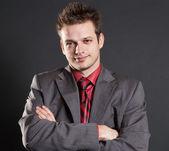 Portrét hezký úspěšný podnikatel
