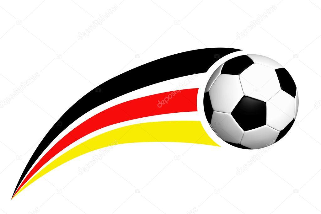 Футбол логотип з німецький смуги на білому — Фото від HS-Photos. Знайти  схожі зображення 8e73878446022