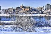 město saskatoon v zimě