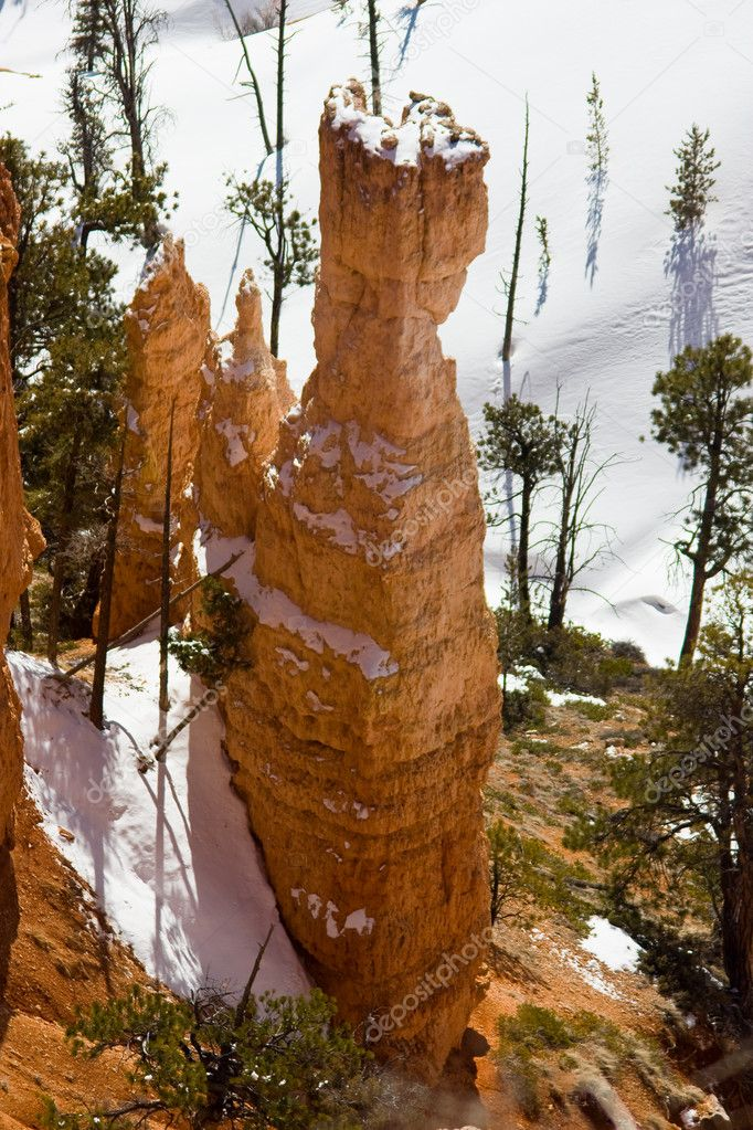Thors Hammer in Winter at Bryce Canyon National Park