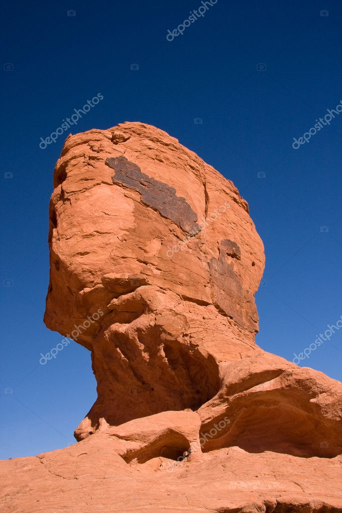 Red Rock Resembles a Head