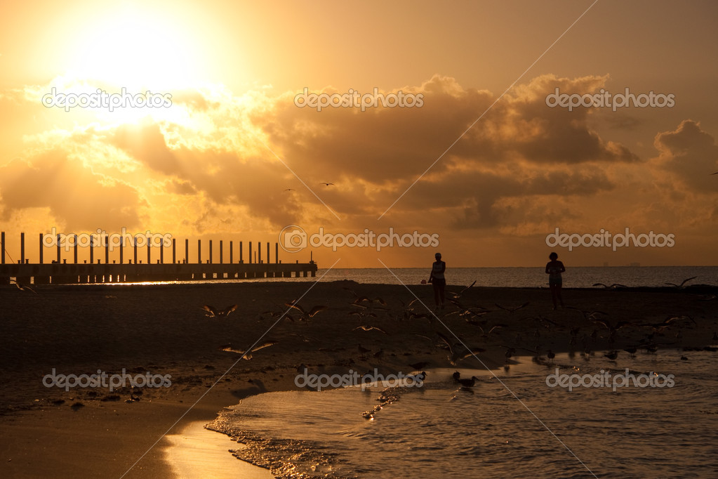 Sunrise on Beach