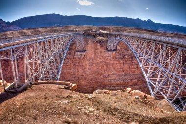 Navajo Bridge over the Colorado River and the Grand Canyon