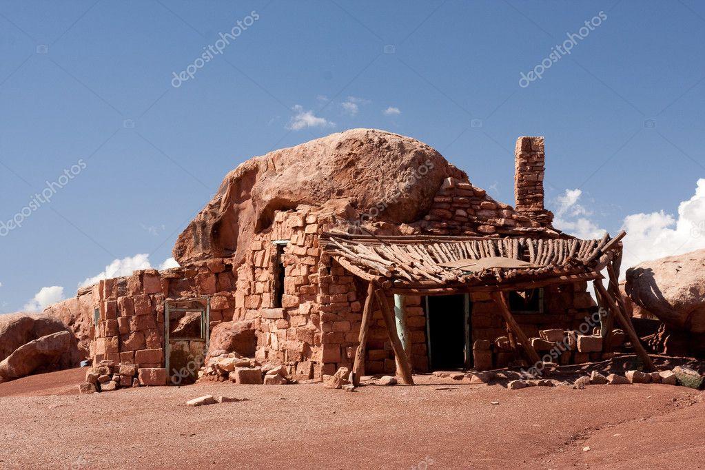 Native American cliff dwellings in Cliff Dwellers, Arizona
