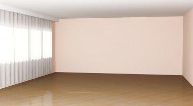 """Картина, постер, плакат, фотообои """"Empty room interior"""", артикул 4979961"""