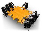 obchodní tým stavební puzzle