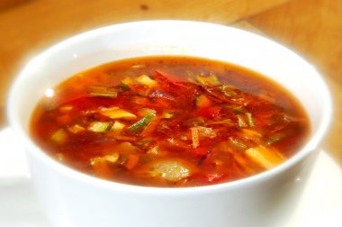 The minestrone soup