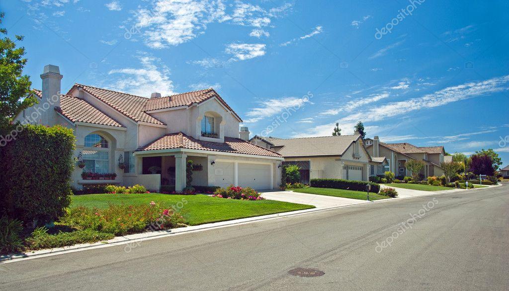 New American dream home panorama