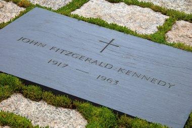 Gravestone of JFK on Arlington National Cemetery