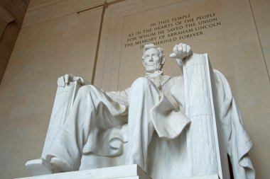 Abraham Lincoln statue in the Lincoln Memorial, Washington DC