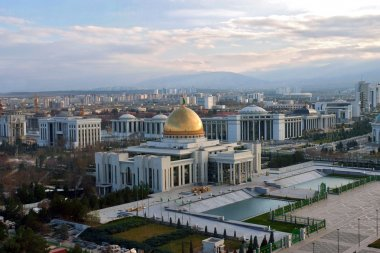 President palace in Ashgabat Turkmenistan