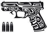 Fotografia tribal pistola