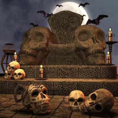 Spooky altar