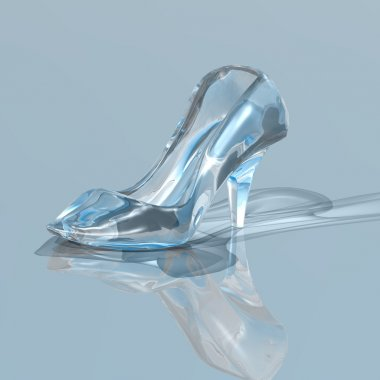 Woman glass slipper