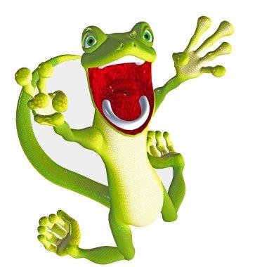 Funny gecko toon