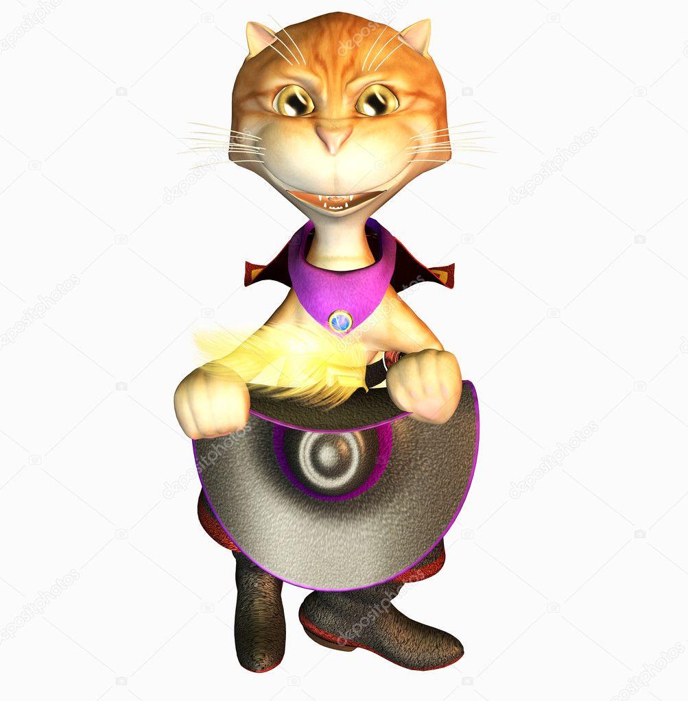 Cute cat toon