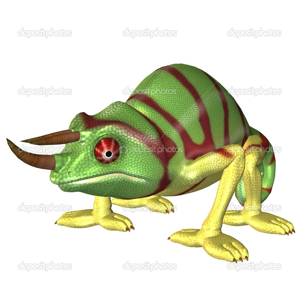 desenho de camaleão stock photo ancello 5066324