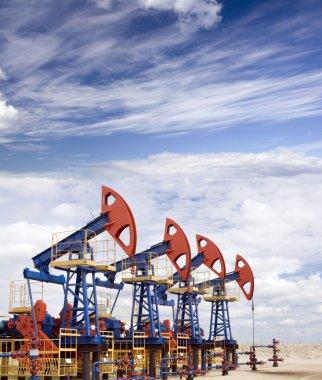 Oil field overcast