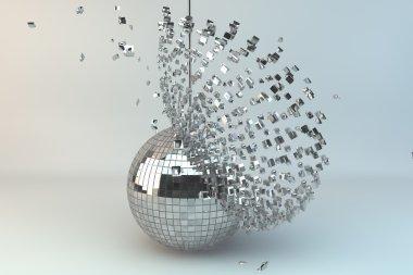 Disco ball exploding