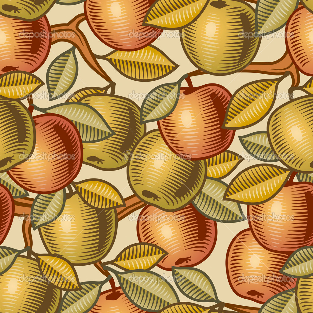 Seamless apple background