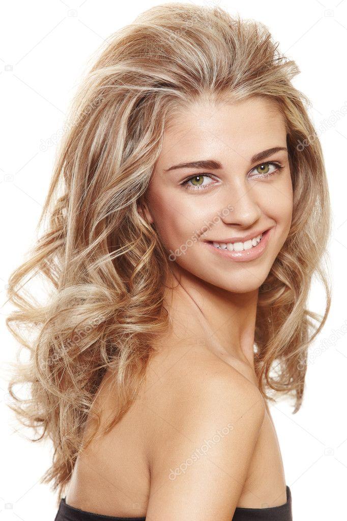 Feliz Mujer Rubia Natural Foto De Stock C Lubavnel 5288980