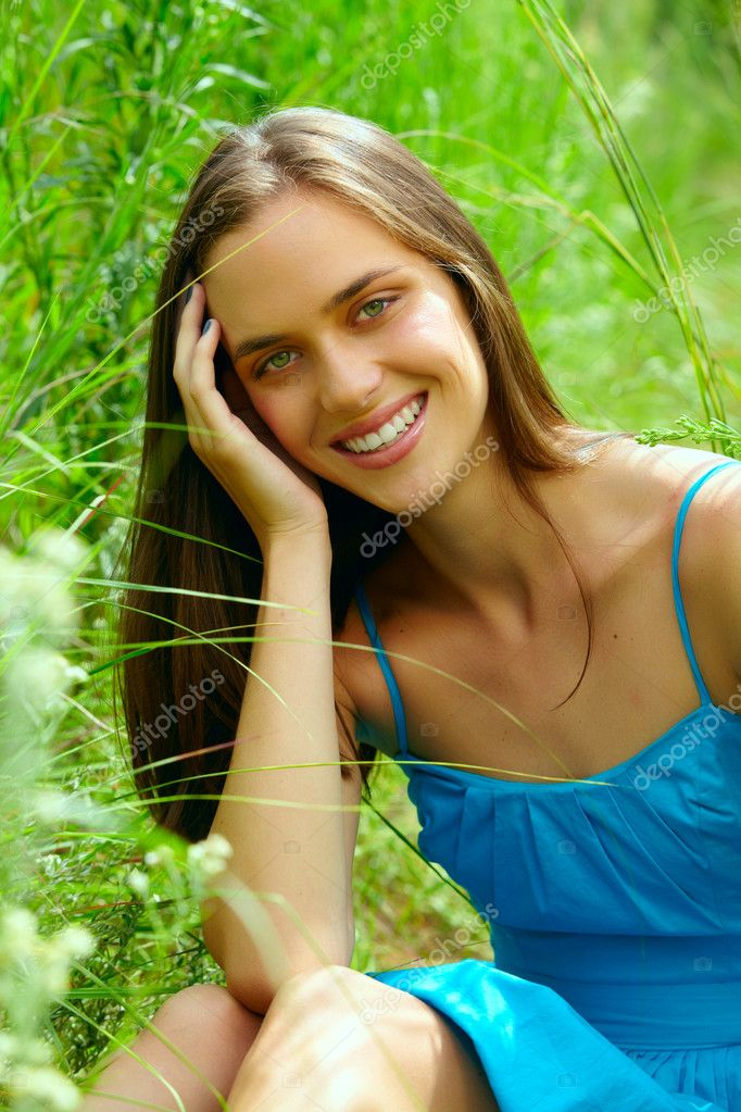 Young teenage woman outdoors